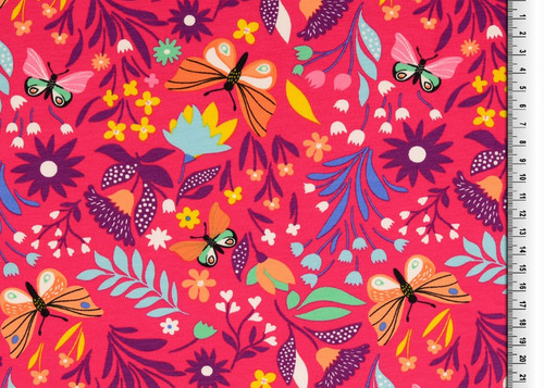 Pink Butterfly Bliss French Terry