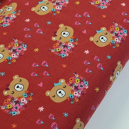 Teddy Floral Red Jersey