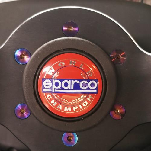 SP Tuning Aftermarket Steering Wheel Titanium Bolt Kit