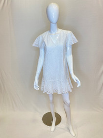 Veronica Dress - White Eyelet
