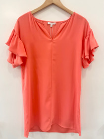 Kiki Dress - Coral Crepe