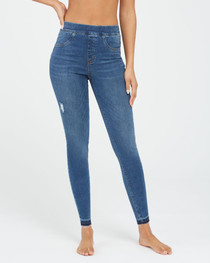 Distressed Skinny Jeans, Medium Wash