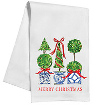 Kitchen Towel - Holiday Topiary Trio