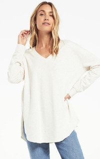 V-Neck Weekender - Light Oatmeal