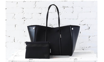Large Tote, Black Onyx