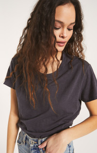 Trina Slub Tee - Washed Grey