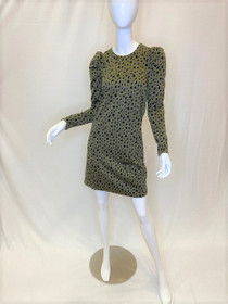 Puff Sleeve Dress, Olive