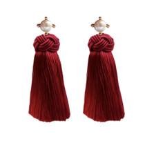 Pearl Tassels - Red