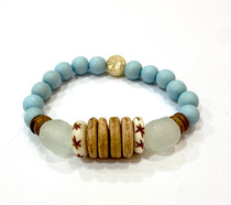 Bracelet - Light Blue Wood