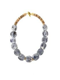 Georgia Short Bone Necklace - Gray