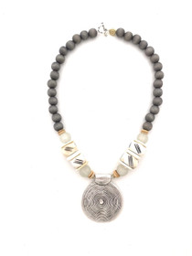 Tribal Medallion - Silver Gray