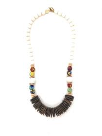 Island Coconut Wood Necklace - Multi