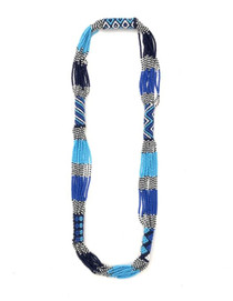 Tribal Beads Necklace - Blue