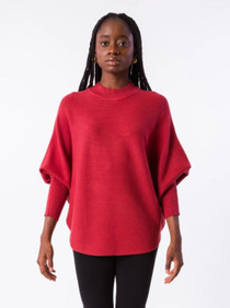 RYU Mock Neck - Cranberry