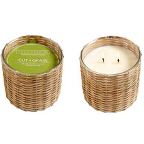 Cut Grass 2 Wick Handwoven Candle