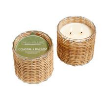 Coastal Balsam 2 Wick Handwoven Candle