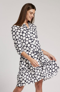 Petra Dot Dress, Multi