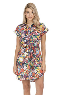Shirtdress, Navy Floral