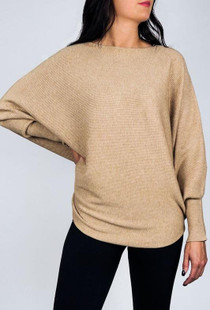 RYU Sweater, Light Camel