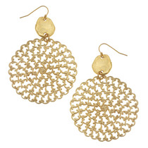 Gold and Filigree Earrings
