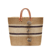 Cyprus Striped Tote, Navy