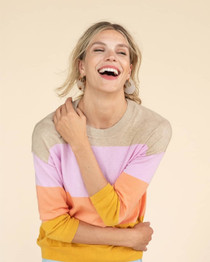 Oversized Jewel Neck Sweater- Sunkissed Oat