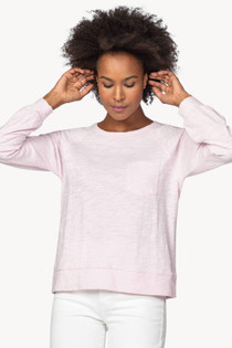 Long Sleeve Pocket Raglan- Petal