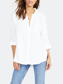 Gauze I Love You Tunic, White