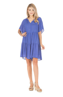 Baby Doll Swing Dress, Royal