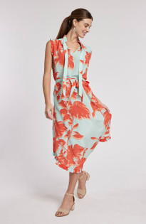 Scarlett Silk Tropical Floral Dress