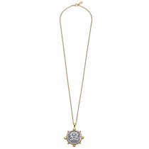 Long Religious Medal Necklace