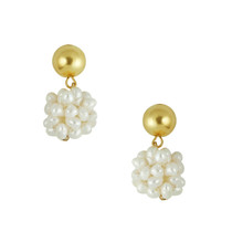Gold + Pearl Cluster Earring