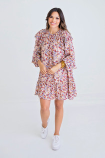 Ditzy Floral Ruffle Dress