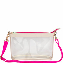 """""""Lucy"""" Clear Crossbody - Pink"""