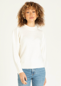 Violet Sweater, White