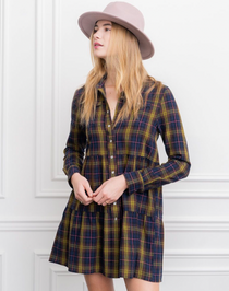 The Jules Dress - Olive Navy