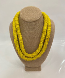 Trade Beads Necklace- Yellow