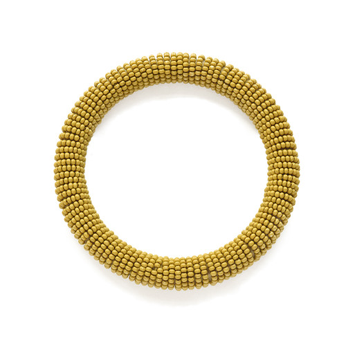 Yellow Seed Bead Bangle