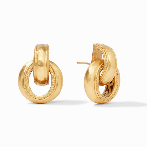 Cassis Doorknocker Earring Gold