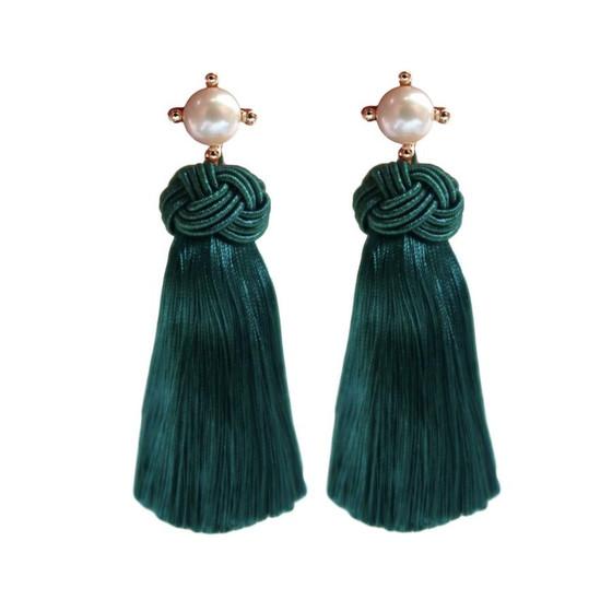 Pearl Tassels - Emerald