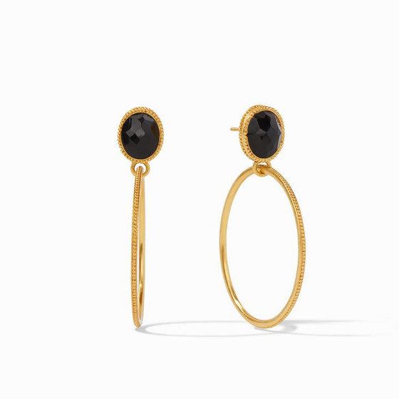 Verona Statement Earring - Obsidian Black