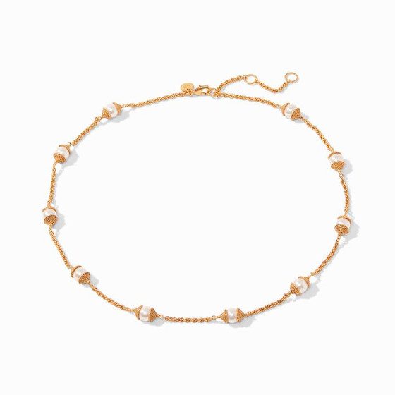 Calypso Pearl Delicate Station Necklace