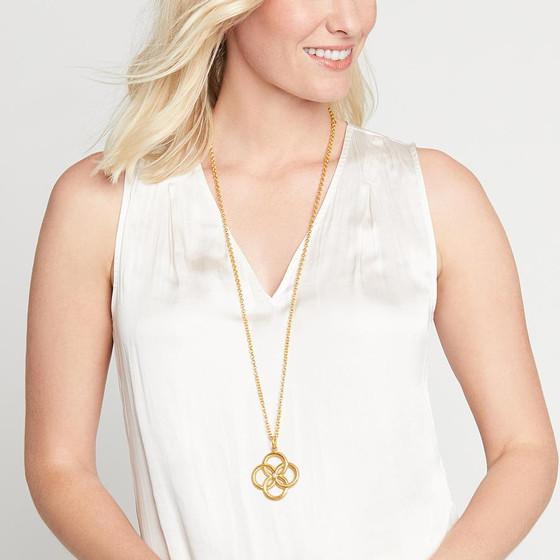Chloe Pendant - Gold Pearl