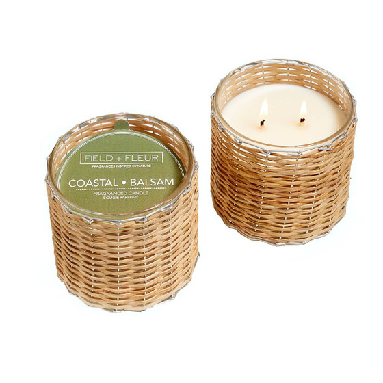 Coastal Balsam 2 Wick Handwoven Candle