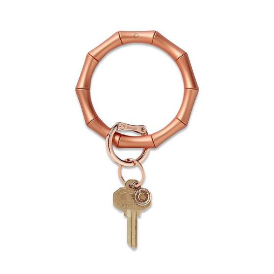 Big O Silicone Key Ring-Rose Gold Bamboo