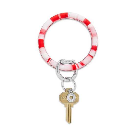 Big O Silicone Key Ring-Cherry on Top Marble