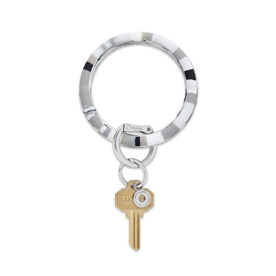 Big O Silicone Key Ring-Tuxedo Marble