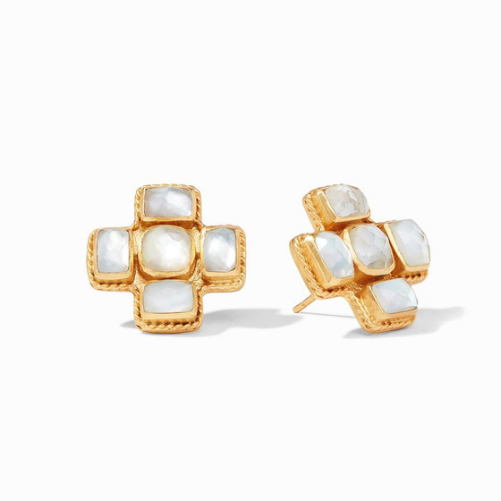 Savoy Earring- Iridescent Clear Crystal