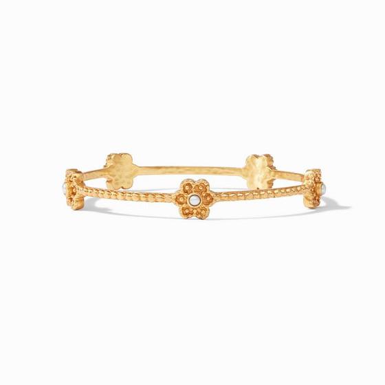 Colette Pearl Bangle Gold Medium