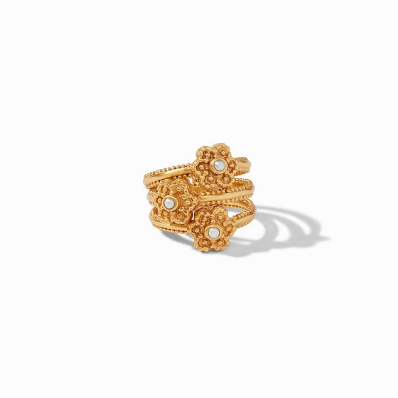 Colette Stacking Ring Set Pearl 7